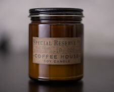 Rustic Coffee House Scented 8 oz. Soy Candle with Black Lid