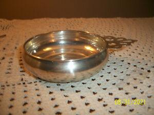 Vintage Sterling Silver Newport Porringer Baby Feeding Bowl with Pierced Handle