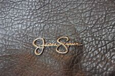 Jessica Simpson Leather Purse Black and Snake Skin Print Amazing Condition