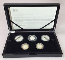 UK 2017 United Kingdom Silver Proof Piedfort Coin Set - Royal Mint [Ref PGA]
