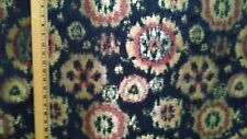 Black/Gold Ikat design Tapestry Upholstery Quality Home Decor Fabric 1 Yard NEW