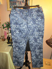 RUBY RD. PETITE PANT IN NAVY AND WHITE SIZE14P