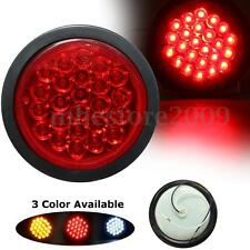 Car Truck Trailer 24 LED Round Reflector Rear Tail Brake Stop Marker Light Red