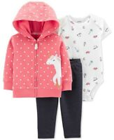 Cute Carter's Baby Girls 3 Piece Bodysuit Pants Jeans Jacket Unicorn Size 3M NWT