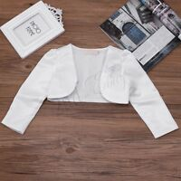 Ivory/Pink Bolero Shrug Short Cardigan for Bridesmaids/Flower Girls and Parties
