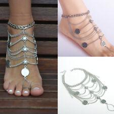 Lady Retro Boho Beach Barefoot Sandal Foot Anklet Tassel Ankle Bracelet