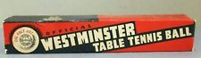 New listing VINTAGE OFFICIAL WESTMINSTER TABLE TENNIS BALLS GERMANY 33 1/2 DOZEN IN BOX