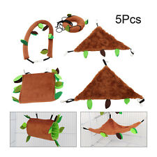 5Pcs Pet Hamster Bird Hanging Swing Hammock Animal Rat Mouse Cage Rope Bed Toys
