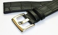 22mm BLACK Genuine Leather Band Strap with 316L Buckle for MONTBLANC