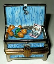 Limoges Box - Child'S Toy Chest - Baby - Doll - Cradle - Teddy Bear - Le 25/500