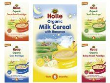 Holle Organic Baby Cereal Porridge: Milk Banana,Semolina, Muesli, Oats, Spelt