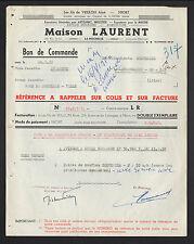 """NIORT (79) FOURNITURES pour ARTISANAT & INDUSTRIE """"VEILLON / LAURENT"""" en 1950"""