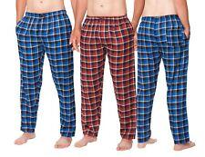 Herren Flanell Schlafanzughose Nachtwäsche Freizeit M L XL XXL bordeaux blau
