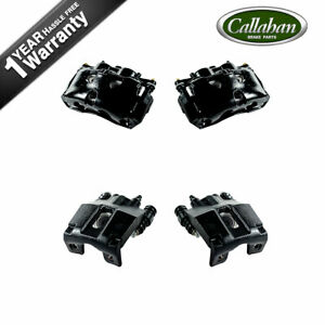 For 2010 2011 Ford F150 Front & Rear Black Brake Calipers