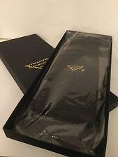 VITALIANO PANCALDI, ITALY, HAND MADE PLEATED BLACK SILK CUMMERBUND SIZE XL