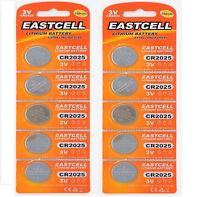 10 x CR2025 ( 3V 150 mAh ) Lithium Batterie 2 Blistercard a 5 Batterien EASTCELL