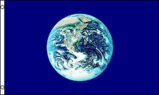 Earth Flag Planet 3x5 Polyester Blue
