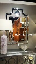 """NEW Horchow LARGE 48"""" Pagoda Frame less Bevel Wall Vanity ASIAN Mirror"""