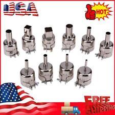 10pcs Heat Gun Nozzles Solder Kit Set For 850 Hot Air Soldering Station Usa