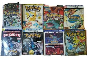 8 Pokemon Official Nintendo Players Guide's
