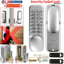 Digital Mechanical Door Push Button Lock Keyless Key Pad Code Combination Access