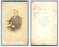 A. Guillerot, Monsieur René Cataire  CDV vintage albumen carte de visite,  Tir