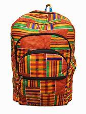 Kente African Print Backpack Book Bag Rucksack Handmade Ankara Backpack Bag