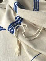 Leinen Sack mit blauen Streifen 140/52 cm,Landhausstil,Countrystyl,Linen Sack