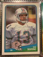 1988 Topps Dan Marino Miami Dolphins #190 Football CENTERED Possible PSA 10