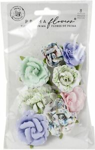 Prima Marketing Mulberry Paper Flowers-Rose Gouache/Watercolor Floral
