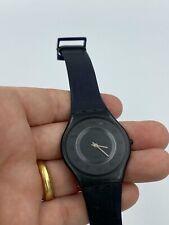 Swatch ULTRA THIN Skin Collection Black Slim Watch 1996