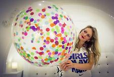 """1 x Unique 24"""" Riesen-Luftballons mit Konfetti gefüllt / filled with Confetti"""