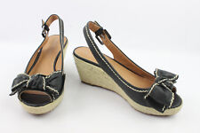 Court Shoes Sandals Heels Wedge FRANCO SARTO Black Leather T 36