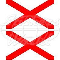 "NORTHERN IRELAND St Patrick's Cross Flag Vinyl Bumper Decal Sticker 3"" (75mm) x2"
