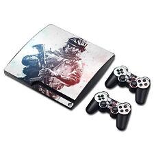 PS3 Slim Playstation 3 Console Skin Decal Sticker Battlefield Custom Design Set