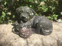Beagle Dog  Statue, Sitting Concrete Garden, Outdoor Cement Grave Marker,