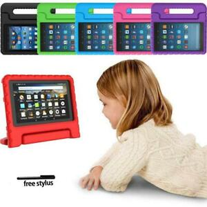 """For Amazon Fire 7"""" HD 8"""" Tablet -ShockProof EVA Handle Kids Stand Cover Case+pen"""