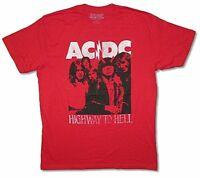 AC/DC Highway to Hell Silhouette Red T Shirt New Official