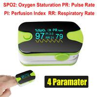 Saturimetro Da Dito Ossimetro Misuratore Ossigeno Pulsossimetro SPO2 PI CE & FDA