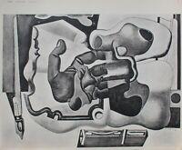 LE CORBUSIER : Main de l'architecte et Plume - GRAVURE signée - 1938