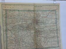 "ANTIQUE COLORED MAP of COLORADO . Dated 1921. Measures 9"" by 11""."