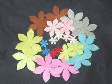 wool blend Felt Flower pattern DIY Shape Felt ~ 22pcs