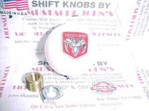 Dodge Ram logo, Custom Shift Knob (White Pearl)