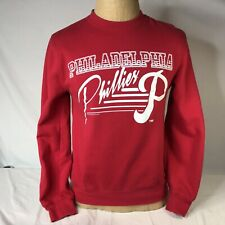Philadelphia Phillies Pull Over Sweatshirt Retro MLB Mitchell & Ness Small Red