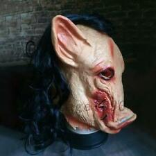 Latex Pig Scary Mask Halloween Fancy Dress Costume Cosplay Moive Saw Gift