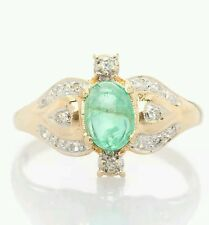 Estate $2000 2ct Colombian Emerald Diamond 14k Yellow Gold Ring