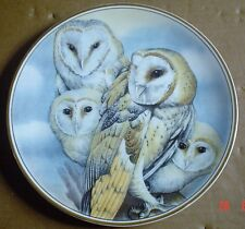 Edwardian Fine Bone China Collectors Plate BARN OWL
