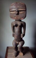 """EXTREMELY RARE 25"""" TEKE Female Woman African Carving Statue LG"""