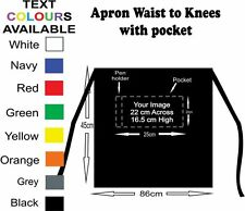 Apron Black Waist to Knee personalised,customised, print text and/or photo on it