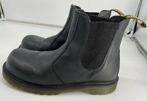 DR MARTENS AIR WAIR BLACK STEEL TOE CAP SAFETY BOOTS  UK SIZE 9